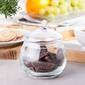 Bomboniera szklana  pojemnik na cukierki 14 cm
