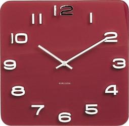 Zegar ścienny vintage czerwony