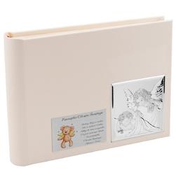 Album na zdjęcia anioł stróż skóra srebro 925 dedykacja