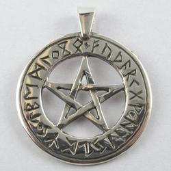 Pentagram z runami