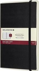 Notes moleskine paper tablet twarda oprawa czarny w linię
