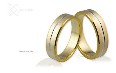 Obrączki ślubne - wzór au-598