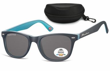 Okulary nerdy polaryzacyjne montana mp10c granatowo-niebieskie