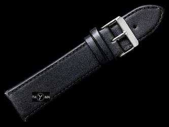 Pasek skórzany do zegarka - czarnyczarne - 20mm