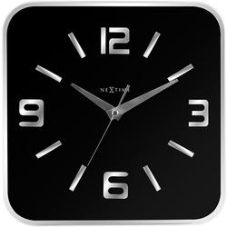 Zegar ścienny shoko nextime 43 x 43 cm, czarny 8149 zw
