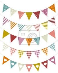 Naklejka 5 seamless festonami wzór curve retro kolor