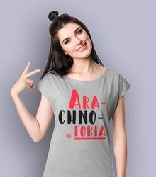 Arachnofobia t-shirt damski jasny melanż xs
