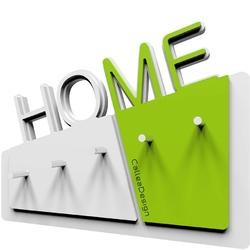 Wieszak na klucze home calleadesign biały  zielony 18-001-76
