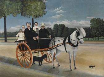 Reprodukcja la carriole du père junier, henri rousseau