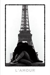Lamour eiffel tower lovers - plakat