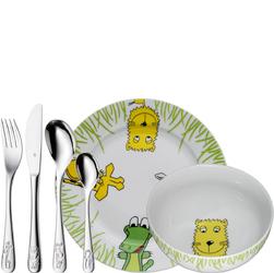 Zestaw naczyń plus sztućce dla dzieci Safari WMF 6 elementów 1280029964