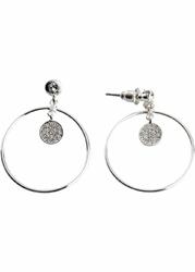 Kolczyki koła z kryształami swarovskiego® bonprix srebrny kolor rodowany