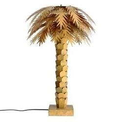 Hk living :: mosiężna lampa stołowa palma - hk living