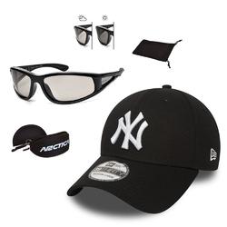 Okulary przeciwsłoneczne fotochromowe arctica + czapka z daszkiem new era ny czarna - 32081