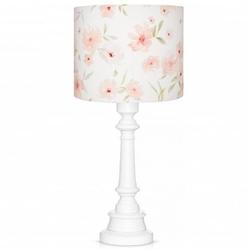 Lampa stołowa z bawełnianym kloszem blossom biała