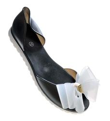 Pantofelek24.pl   gumowe balerinki meliski z kokardą