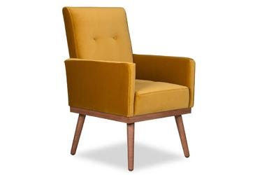 Krzesło klematisar welurowe deluxe - welur łatwozmywalny siena