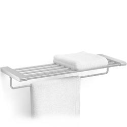 Półka łazienkowa z relingiem na ręcznik atore zack stal matowa 40434
