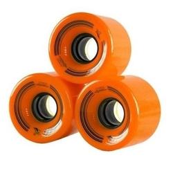 Kółka do fiszek 60 x 45mm - 4szt. pomarańczowe