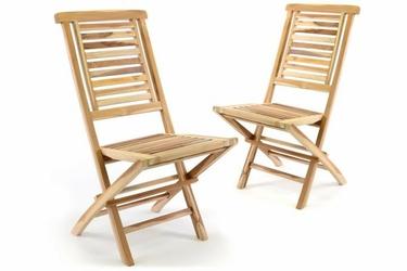 Zestaw 2 krzeseł z drewna tekowego hantown