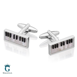 Spinki do mankietów x2 perłowe klawisze pianino
