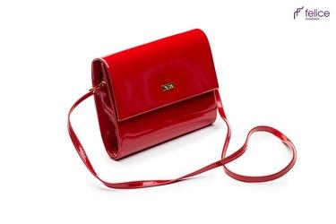 Kopertówka damska felice f14 lakier czerwona - czerwony