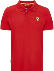 Koszulka polo scuderia ferrari f1 classic czerwona - czerwony