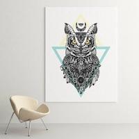 Art owl - modny obraz na ścianę , wymiary - 80cm x 120cm
