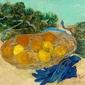Still life of oranges and lemons with blue gloves, vincent van gogh - plakat wymiar do wyboru: 42x29,7 cm
