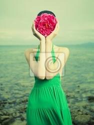 Obraz surrealistyczny portret kobiety