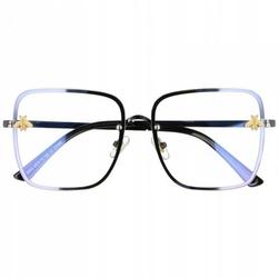 Okulary kwadratowe z filtrem światła niebieskiego do komputera zerówki 2535-1
