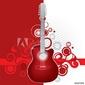 Fotoboard na płycie czerwona gitara
