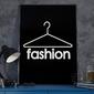 Fashion - plakat designerski , wymiary - 18cm x 24cm, ramka - biała