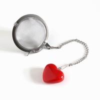 Metalowy zaparzacz serce kulka - idealny do parzenia herbaty, ziół, wielokrotnego użytku