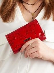 Portfel damski lakierowany czerwony cavaldi pn23 - czerwony 8