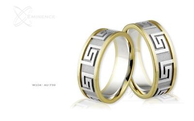 Obrączki ślubne - wzór au-739