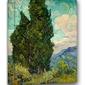 Cyprysy - vincent van gogh - obraz na płótnie wymiar do wyboru: 90x120 cm