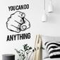 Naklejka na ścianę - you can do anything , wymiary naklejki - szer. 120cm x wys. 180cm