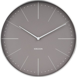 Zegar ścienny Normann 37,5 cm szary