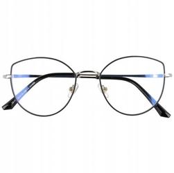 Okulary kocie oczy z filtrem światła niebieskiego do komputera zerówki 2530-2