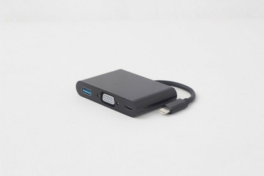 Gembird Adapter USB Typ-C do VGA 3w1 ładowanie czarny