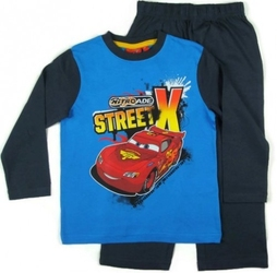 Piżama cars street niebieska 3 lata