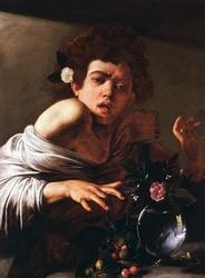 Reprodukcja boy bitten by a lizard, michelangelo caravaggio