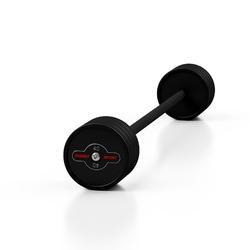 Sztanga gumowana prosta 40 kg czarny mat - marbo sport