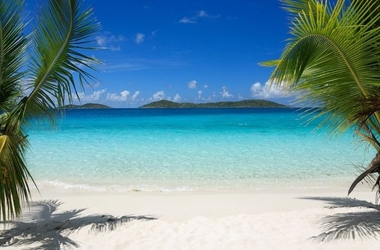 Dziewicze plaże - fototapeta