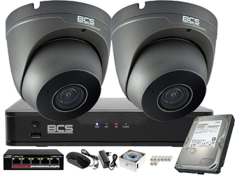 Do sklepu firmy domu system monitoringu bcs-p-nvr0801-4k-e 2 x bcs-p-262r3wsm-g h265