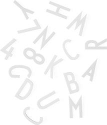 Litery i cyfry duże do tablicy design letters 159 szt. białe