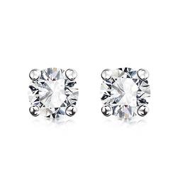 Staviori Kolczyki. 2 Diamenty, szlif brylantowy, masa 0,50 ct., barwa G-H, czystość SI1. Białe Złoto 0,585. Średnica 4,50 mm. Długość 4,60 mm.
