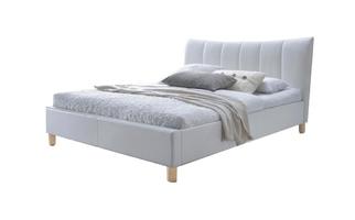 Łóżko tapicerowane sandy 160x200 biały