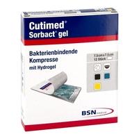 Cutimed sorbact gel kompresy 7,5 x 7,5 cm